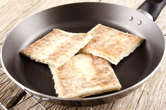 Potato bread in a pan Royalty Free Stock Images