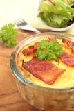 Potato pie with salad Stock Photography