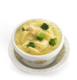 Potato, Broccoli And Cheese Soup Royalty Free Stock Image
