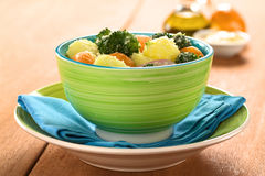 Potato Broccoli Mandarin Salad Stock Photography