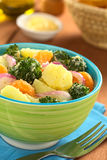 Potato Broccoli Mandarin Salad Royalty Free Stock Images
