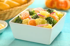 Potato, Broccoli, Mandarin Salad Stock Image