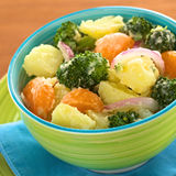 Potato, Broccoli, Mandarin Salad Royalty Free Stock Photography