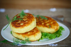 Potato cakes with meat Royalty Free Stock Photo