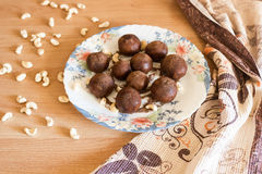 Potato cakes with nuts. Stock Image
