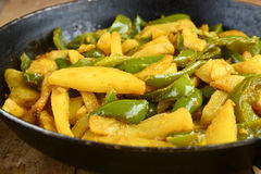 Potato Capsicum Curry Stock Images