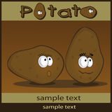 Potato cartoon Royalty Free Stock Images
