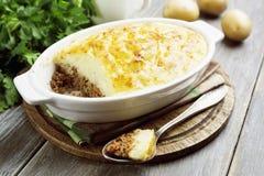 Potato casserole with meat Stock Image