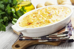 Potato casserole with meat Royalty Free Stock Photo