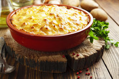 Potato casserole with meat Stock Images