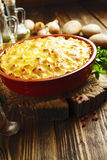 Potato casserole with meat Stock Photography