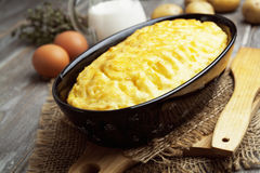 Potato casserole with meat Royalty Free Stock Photography