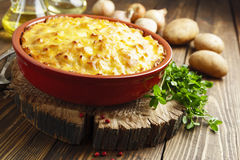 Potato casserole with meat Royalty Free Stock Image