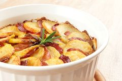 Potato casserole side view Royalty Free Stock Photography