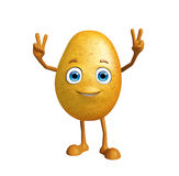 Potato character with win pose Stock Photography
