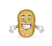 Potato - Cheerful. Potato is happy and is showing his smile Royalty Free Stock Photography