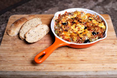 Potato and Cheese Gratin Stock Images