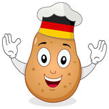 Potato Chef Character with German Hat Royalty Free Stock Photos