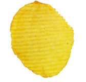 Potato chip. Isolated on white background royalty free stock image