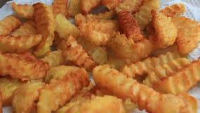 Potato chip stock video footage