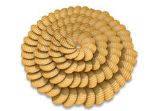 Potato Chip Circular Pattern Stock Photos