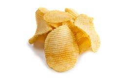 Potato chip. Isolated Isolated on White Background stock photo