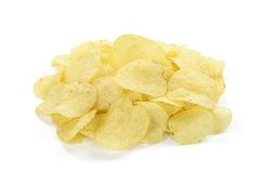 Potato chip. Isolated on white background Royalty Free Stock Photo
