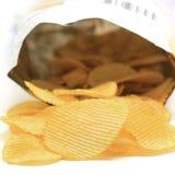 Potato chip. Isolated on white background stock image
