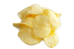 Potato chip. On white background royalty free stock image