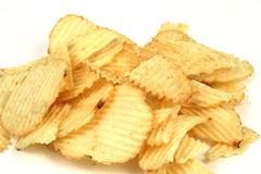 Potato Chips. On a white background Stock Image