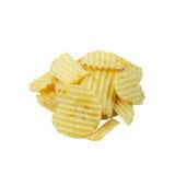 Potato chips. Potato crisps/chips isolated on white Royalty Free Stock Photos