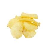Potato chips. Potato crisps/chips isolated on white Royalty Free Stock Photography