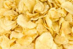 Potato Chips. Full Frame Photograph Stock Photo