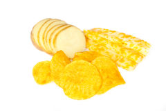 Potato Chips. Isolated on the white background Stock Image