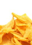 Potato chips. Close up, space for messages stock images