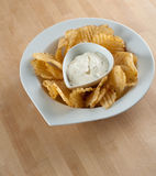 Potato Chips And Dip Royalty Free Stock Image