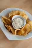 Potato Chips And Dip Royalty Free Stock Photo