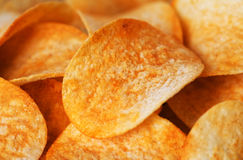 Potato Chips background Royalty Free Stock Photo