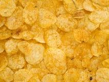 Potato chips background Royalty Free Stock Photography