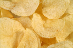 Potato Chips background. Close up of potato chips Stock Image