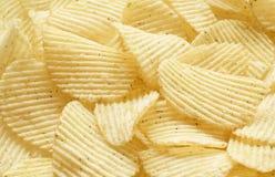 Potato chips background stock image
