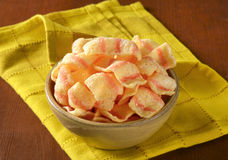 Potato chips with bacon flavor Royalty Free Stock Photography