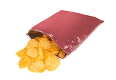 Potato chips bag Royalty Free Stock Image