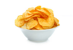 Potato chips bowl Royalty Free Stock Photography