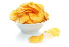 Potato chips bowl Stock Photography