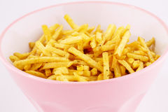 Potato chips in bowl Royalty Free Stock Image