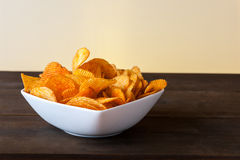 Potato chips bowl Stock Photography