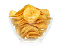 Potato chips bowl Stock Image