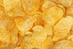 Potato chips. Can be used as a background Royalty Free Stock Photography
