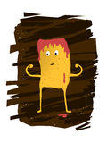 Potato Chips Character Royalty Free Stock Photo